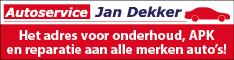 Banner Autoservice Jan Dekker lokaal blok half banner