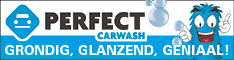 Banner Perfect Carwash lokaal blok half banner