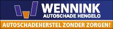 Banner Wennink Autoschade lokaal blok half banner