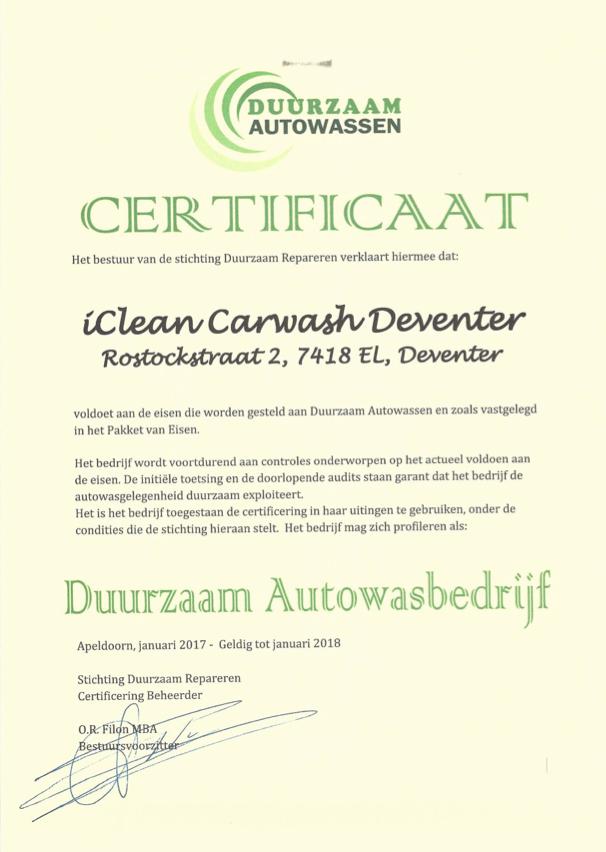 Duurzaam Autowassen Autopaper Meer